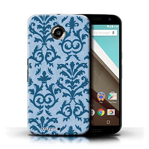 Kobalt® Imprimé Etui / Coque pour Motorola Nexus 6 / Vert conception / Série Motif de défilement Bleu