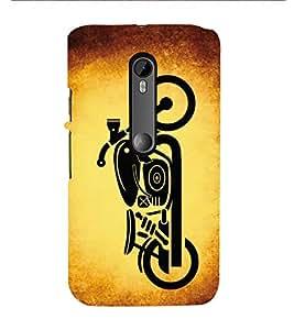 HiFi Designer Phone Back Case Cover Motorola Moto X Force :: Motorola Moto X Force Dual SIM ( Super Bike Black Rider Bullet )