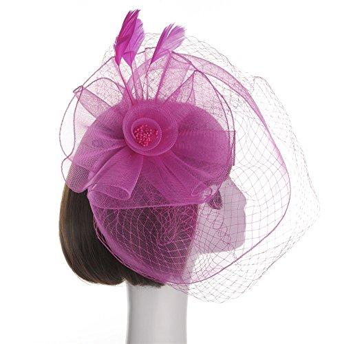 VRTUR Haar Clip Damen Haar Accessoire Tea Party Hochzeitskirche Kopfbedeckung für Frauen Karneval Valentinstag ()