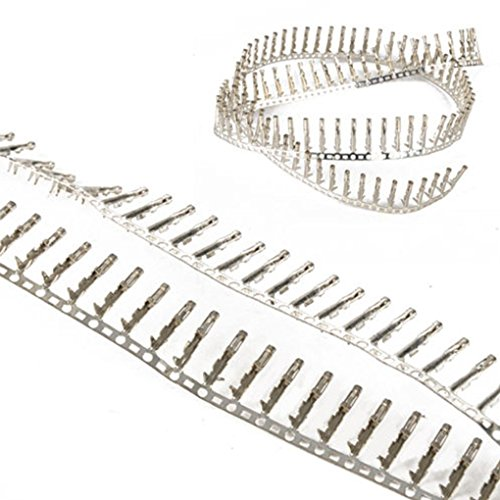 meisijia 100PCS 4mm Buchse Kupfer Dupont Jumper Kabelschuh Pin des Crimp-Anschluss Kupfer Video-crimp