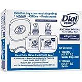 Duo Soap Dispenser Kit, 7 1/4 x 3 7/8 x 11 3/4, 1250 mL Cartridge, Smoke