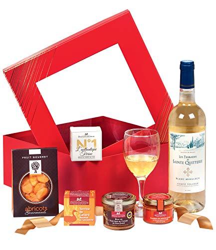 """Ducs de Gascogne - Coffret gourmand """"Fenêtre sur goût"""" - comprend 5 produits salés et sucrés - 944812"""