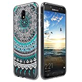 CoolGadget Samsung Galaxy J7 2017 J730 Hülle, Ultra Thin Muster Tasche Cover Schlank Weich Flexibel Anti-Kratzer Schutzhülle Abdeckung Case, Silikon Cover für Galaxy J7 2017 J730 Mandala Case