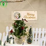 Gaddrt Christmas Weihnachten Schneemann Holzplatte hohlen Tür hängen Holzanhänger Weihnachten Dekor 28.5cm x 10cm (A)