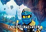 TV-24 Lego Ninjago Einladungskarten 12er Set inkl. 12 Umschläge E6