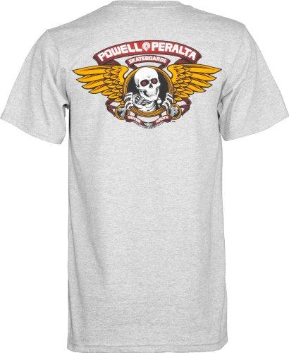 Herren T-Shirt Powell Peralta Winged Ripper T-Shirt greymottled