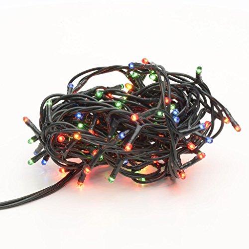 Takestop® 100 led luci colorate colore filo verde albero di natale catena luminosa controller 8 funzioni minilucciole lampadine