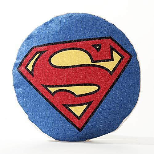 Kissen Sofakissen Futon Baumwolle Und Leinen Rundes Kissen Stuhl Rücken Bodenkissen Büro Auto Kissen Dekoration Amerikanischen Kapitän Superman Iron Man,A-55 * 55CM