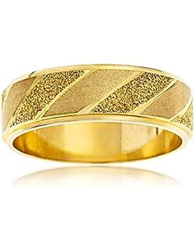 Kareco Ehering 9 Karat (375) Gelbgold mattiert Diamantschliff 5 mm