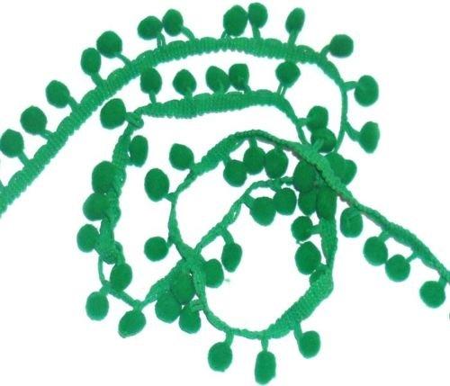 Grün Pom Pom Trim Trimmen Nähen Craft Pro Meter 10mm Bobble Fransen Pompon Qualität Großbritannien von Zubehör Dachboden -