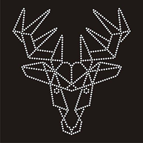 Twisted Envy astratto cervo diamante motivo T Shirt Transfer Iron on hotfix Gem