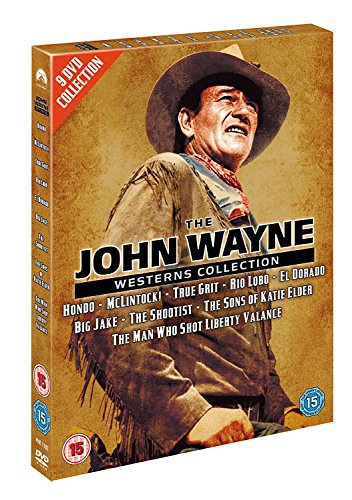 Bild von The John Wayne Westerns Collection (Hondo, Mclintock!, True Grit, Rio Lobo, El Dorado, Big Jake, The Shootist, The Sons of Katie Elder, The Man Who Shot Liberty Valance) [UK Import]