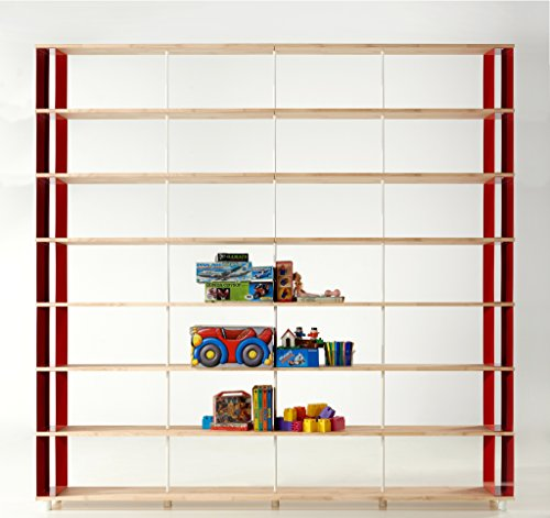 Skaffa Bücherregal SKAFFAWOOD MASSIVHOLZ kombinierbare Regal Wand Design Einlegeböden Made in ITALY cm. H 292 X 300