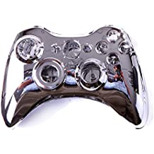 HDE Replacement Xbox 360Controller Shell Cover & Buttons, color plata