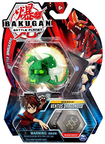 BAKUGAN, Ventus Dragonoid, 2-inch Tall Collectible Transforming Creature, for Ages 6 and Up