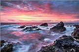 Poster 120 x 80 cm: Sonnenuntergang in Lanzarote bei den