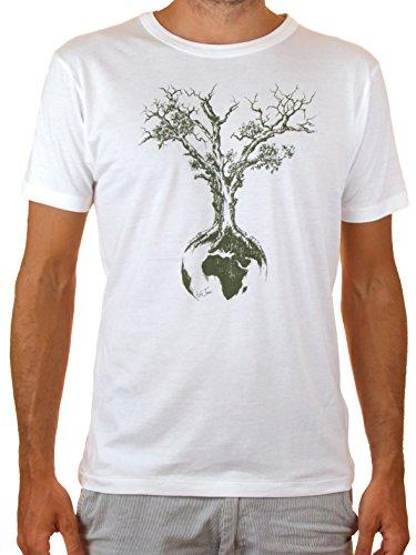 Life-Tree Ropa Justa Tencel Camiseta Hombre Weltenbaum de Tencel y Algodón Ecológico de