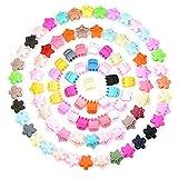 Vathery 90 Pezzi Mini Fermagli per Capelli in Plastica, Multicolore Clip per Capelli, Mollette per Capelli per Bambina Ragazze Barrettes Capelli Accessori