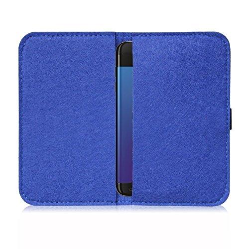 Universal Smartphone Cover Handytasche Case Schutzhülle Sleeve Filztasche , Farbe:Türkis;Smartphone:Apple iPhone 8 Blau