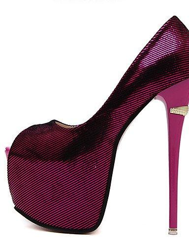 GS~LY Da donna-Tacchi-Formale / Serata e festa-Tacchi / Spuntate / Plateau-A stiletto-Finta pelle-Nero / Blu / Viola / Borgogna black-us8.5 / eu39 / uk6.5 / cn40