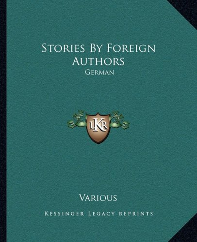Stories by Foreign Authors: German