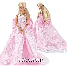 a756d9642 Miunana 1 Vestido de noche con Lazo Ropa Princesa Elegante Vestir Fiesta  como Regalo para Barbie