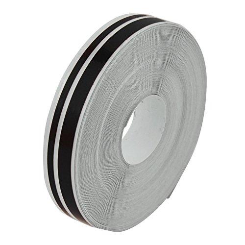 SODIAL 1/2 Zoll Pin Striping Stripe Vinyl Tape Decals Aufkleber 12Mm Für Automotorr?der Schwarz (Auto-striping-tape)