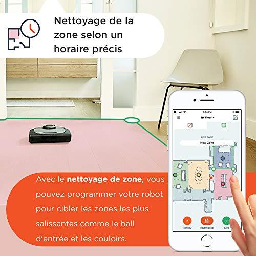 51R-9rJ1KEL [Bon Plan Neato] Neato Robotics D701 Connected - Compatible avec Alexa - Robot aspirateur avec station de charge, Wi-Fi & App