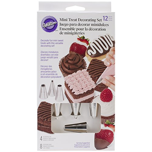 Wilton Set de decoración para Mini postres, 12 Piezas, Centimeters