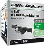 Rameder Komplettsatz, Anhängebock mit 2-Loch-Flanschkugel + 13pol Elektrik für FIAT DUCATO Pritsche/Fahrgestell (113386-04906-3)