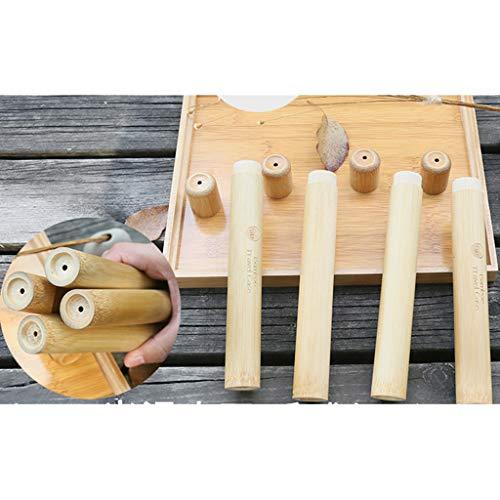 hahuha Toy Tragbare natürliche Bambus Zahnbürste Fall Rohr für Reise Eco Friendly Hand Made