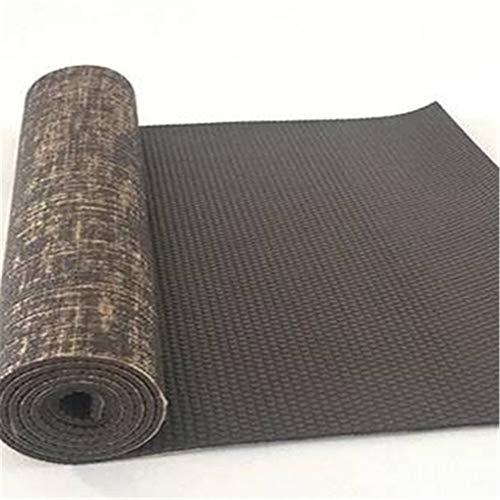 Hunt Power Natürliche Jute Yoga -Matten -Auflage Eco Friendly Reversible Hybrid Leinen Yoga -Matten -Kit für Yoga Pilates & Fitness Exercise183 * 61 cm * 5 MM,braun,5mm -