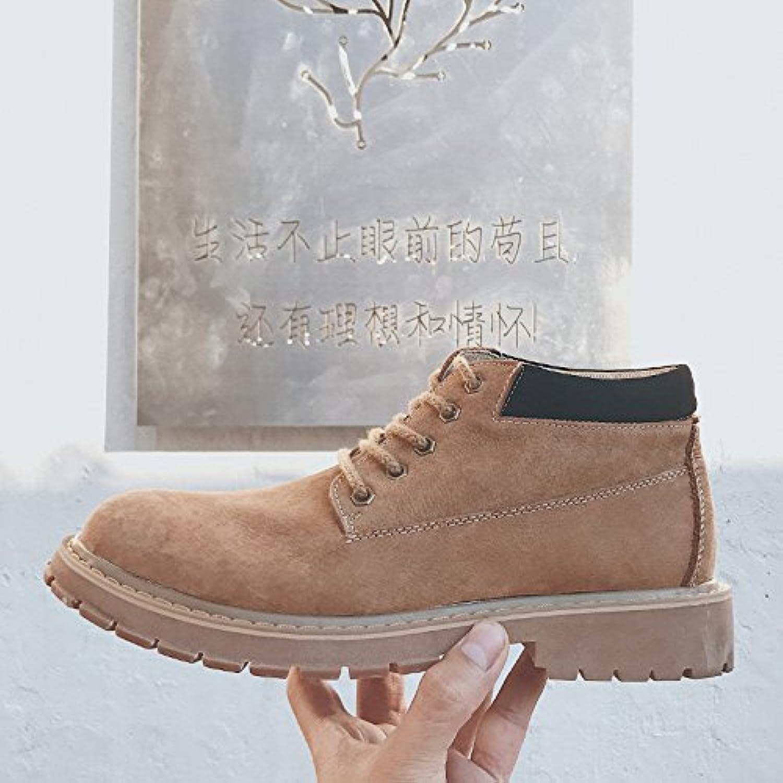 HL-PYL-coreana hombres botas botas botas botas botas botas altas de ruibarbo Retro ayudante Martin,40,Marrón oscuro  -