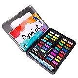 Dyvicl - Juego de pintura de acuarela profesional, 36 colores surtidos, lata de metal, kit de pintura de acuarela para artistas, estudiantes, principiantes