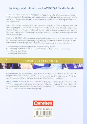 Trainerkompetenz: Ausbilden lernen: Trainings- und Lehrbuch nach  AEVO 2009 für alle Berufe mit CD-ROM. Fachbuch