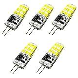 Bonlux G4 LED Birne 3W Warmweiß 3000K AC/DC 12V Bi Pin Sockel Sockel Leuchtmittel 360 Grad Halogenlampe Ersatz (5-Stück, Nicht Dimmbar)