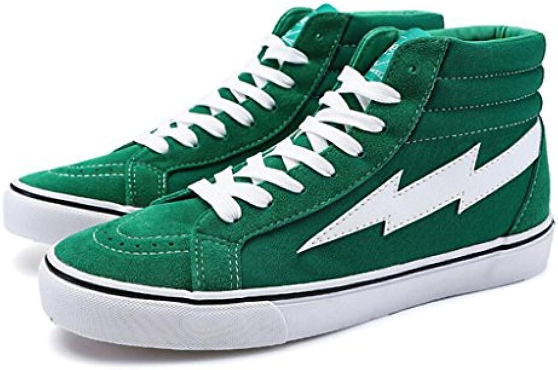 GAOLIXIA Zapatos de lona para hombre Zapatillas de moda Zapatillas altas planas ocasionales Zapatillas deslizantes...