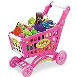 FEI Juguetes para Bebés Juguetes de simulación infantil supermercado Carros de la compra Para jugar Juguetes Juguetes para bebés carretillas niñas Vehículos de la cocina y los conjuntos de fruta Juguetes (1-3 años) Temprano Educación ( Color : Pink )