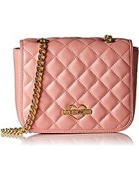Love Moschino - Borsa Nappa Pu Trapuntata Rosa, Shoppers y bolsos de hombro Mujer, Pink, 14x20x6 cm (W x H D)