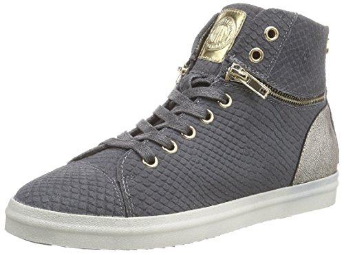 Replay Base, Sneaker alta donna, Grigio (Grau (CH GREY 14)), 38