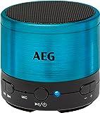 AEG BSS 4826 Bluetooth-Soundsystem/USB/AUX-IN inkl. Freisprecheinrichtung, Akku, Aluminiumgehäuse blau