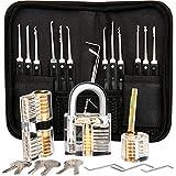 Luxebell Lock Picking, 24 pièces Lock picks avec 3 kits de sélection de cadenas à verrouillage transparent pour débutants et professionnels