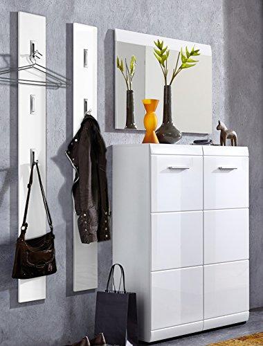 Germania 8713-84 4-tlg. Garderoben-Set GW-Adana in Weiß, 150 x 197 x 36 cm (BxHxT)