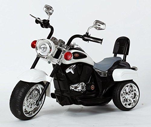 Harley Davidson-Stil Kinder 3-Rad-Chopper 6V Elektromotor Trike Weiß