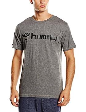 Hummel T-Shirt Classic Bee Short Sleeve Tee - Camiseta manga corta para hombre, color dark grey melange, talla M