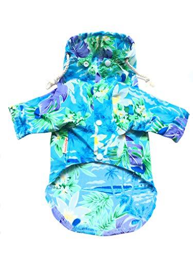 Hunde-Polo-Shirt mit Kapuze für kleine bis mittelgroße Hunde und Katzen, Hawaii -