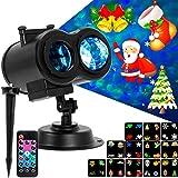 INNOCHEER LED Projektionslampe Lichter Weihnachtsbeleuchtung Außen Projektor, Wasserdicht für Innen Garten Weihnachten Deko
