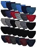 12 Herren Sport - Slips in klassischen Farbkombinationen ohne Eingriff