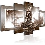 Visario 5502 tableau sur toile motif bouddha 5 pi ces 160 for Quadri moderni leroy merlin
