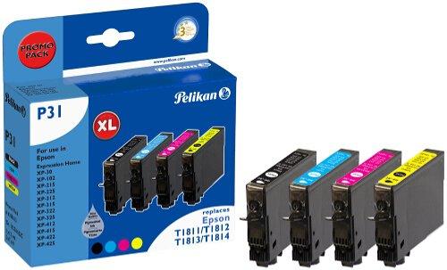 Preisvergleich Produktbild Pelikan Druckpatronen PromoPack P31 ersetzt Epson T18164010, BK PIG/C/M/Y